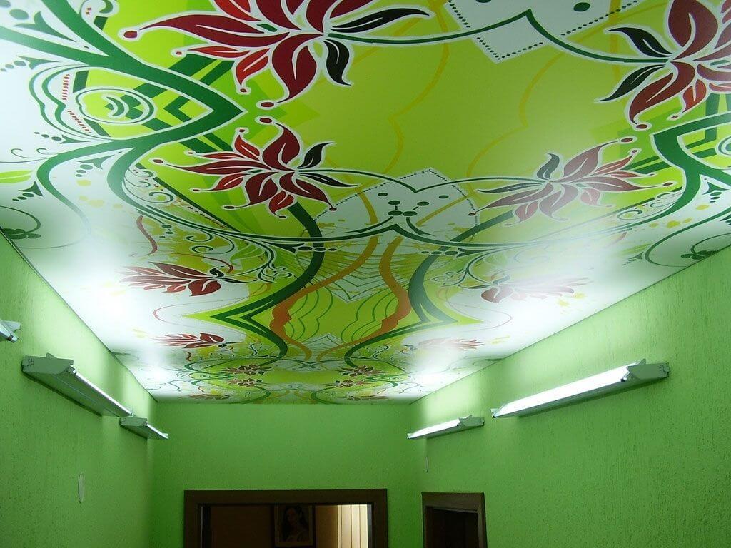 Дизайн натяжного потолка